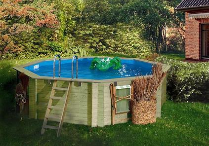 pool holz rund formbecken 400x400x124 cm komplettset ebay On pool rund holz