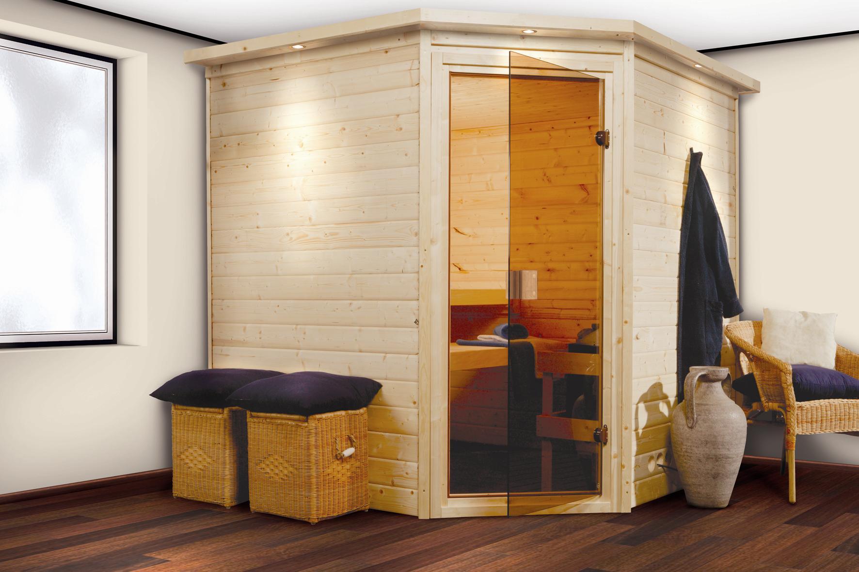 massivholzsauna 38mm 196x196x200 eckeinstieg komplett ebay. Black Bedroom Furniture Sets. Home Design Ideas